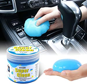SYOSIN Car Cleaner for Car Detailing Tools Keyboard Cleaner AutomotiveInteriorCleaning Car Detailing SuppliesDust Cleaning Mudfor Car Air Vent, Laptops, Printers,Calculators