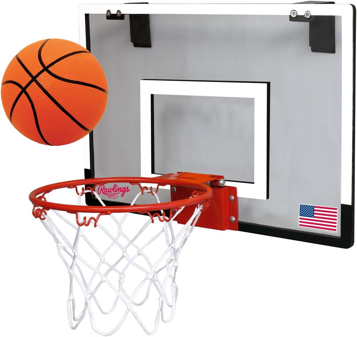 Rawlings Sporting Goods Game On Basketball Backboard Hoop Set, White, 18 x 12