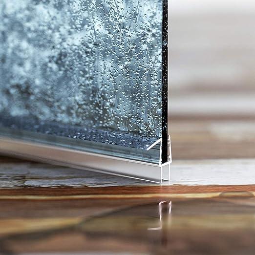STEIGNER Junta de Ducha, Junta de Sellado, 70 cm, Espesor del Vidrio 10/11mm, Junta Recta PVC, UK20-10: Amazon.es: Bricolaje y herramientas
