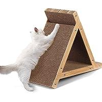 Triangle Cat Scratching Board Corrugated Cardboard Cat Toy Pad Lounge