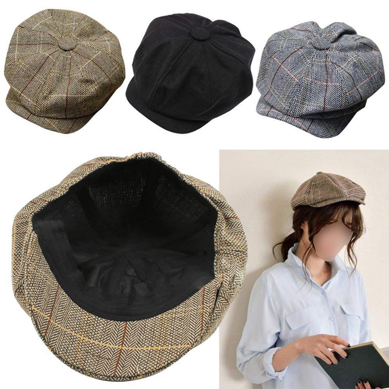Men Women Newsboy Driving Flat Gatsby Tweed Sun Hat Country Beret Baker Cap Painter caps Octagonal Fashion New