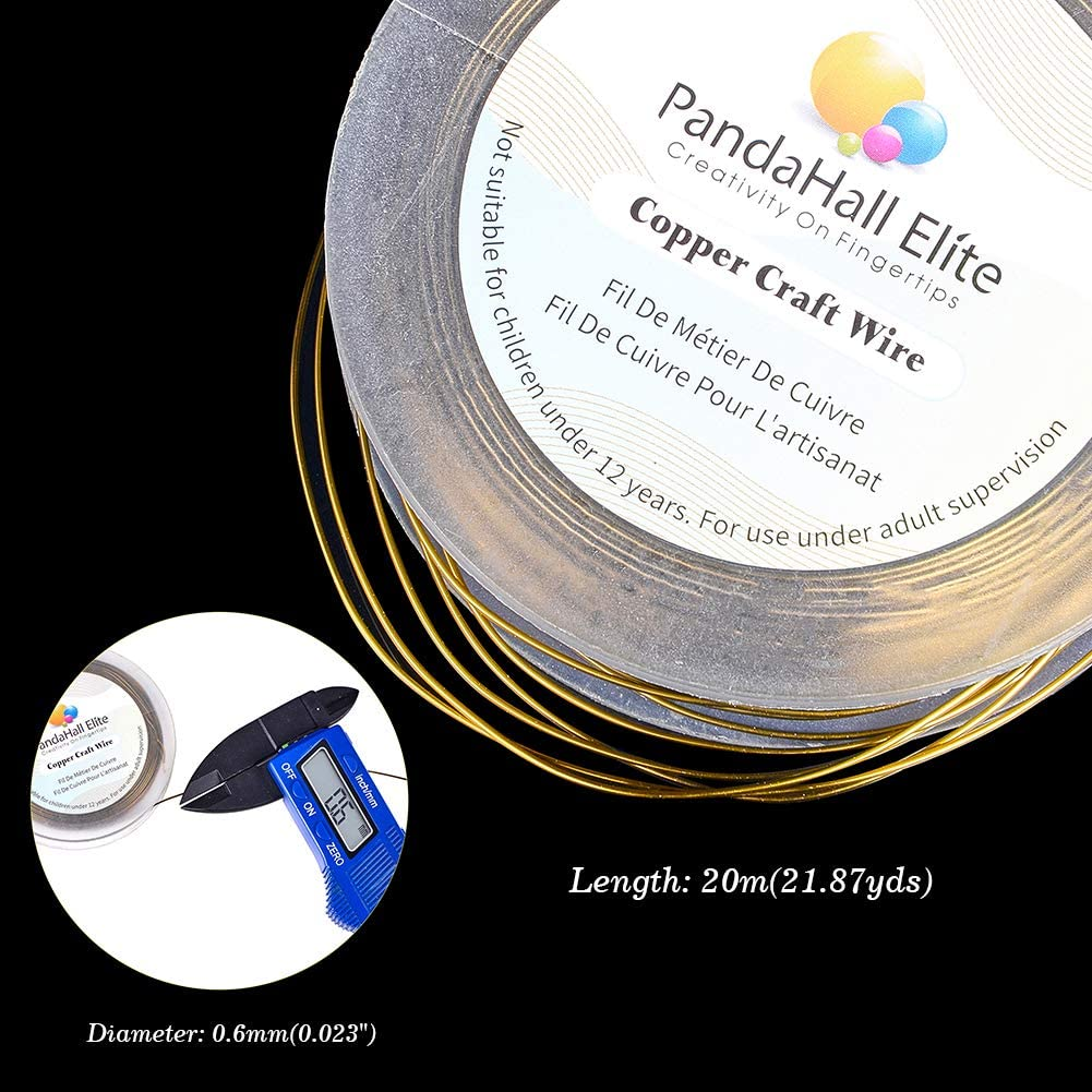 Antique Bronze PH PandaHall 10M 18 Gauge 1mm Colorful Copper Wire Tarnish Resistant Metal Jewelry Beading Wire Roll for Crafting Jewelry Making 32FT