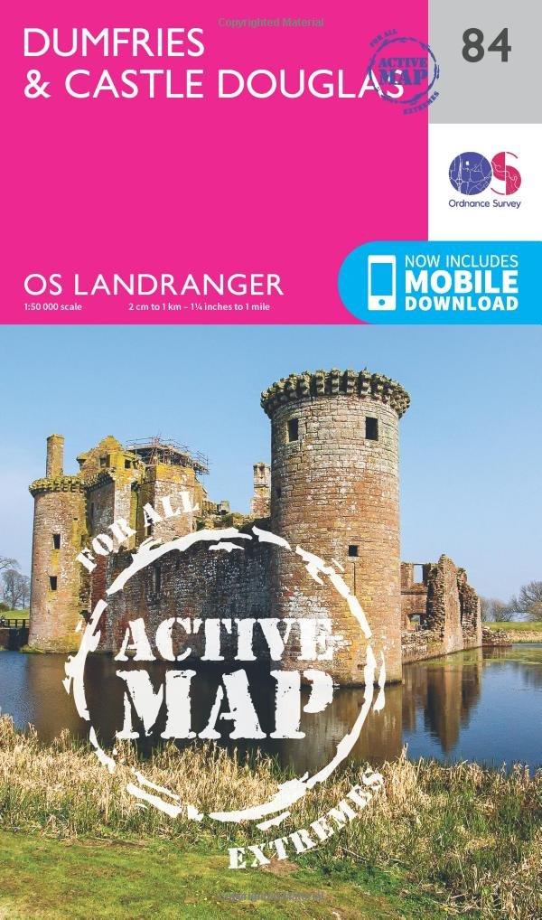 dumfries castle douglas os landranger map ordnance survey