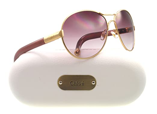 Amazon.com: Chloe CL 2207 oro ciruela CO3 anteojos de sol ...