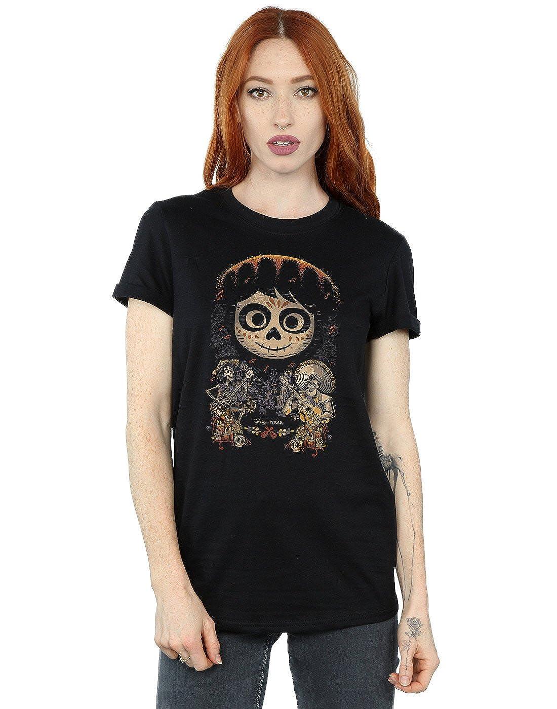 Disney Mujer Coco Miguel Face Poster Camiseta del Novio Fit