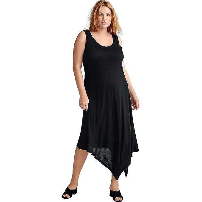 Vintage 1920s Dresses – Where to Buy Ellos Womens Plus Size Hanky Hem A-Line Dress $19.48 AT vintagedancer.com