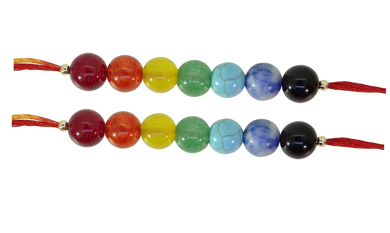 Arihant Gems & Jewels 7 Chakra Energetic Healing Stone Rakhi