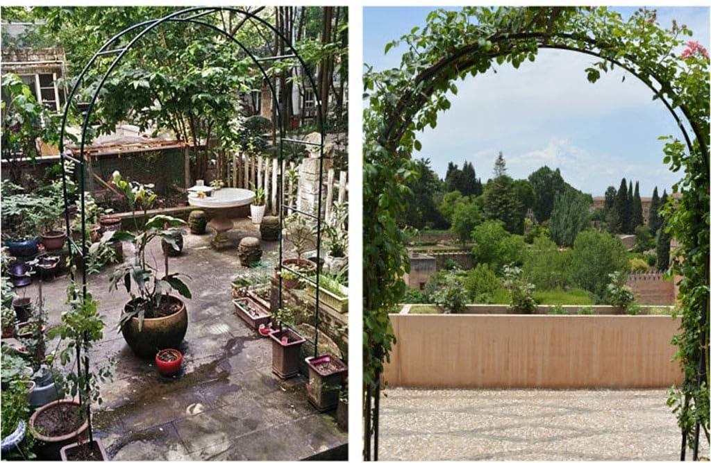 XLOO Arco de jardín de Metal, Arcos de Pasarela de jardinería, múltiples Conjuntos de Combinaciones, Tubo de Acero Grueso, óxido, para la decoración Floral del jardín Nupcial de la Fiesta de Bodas,: