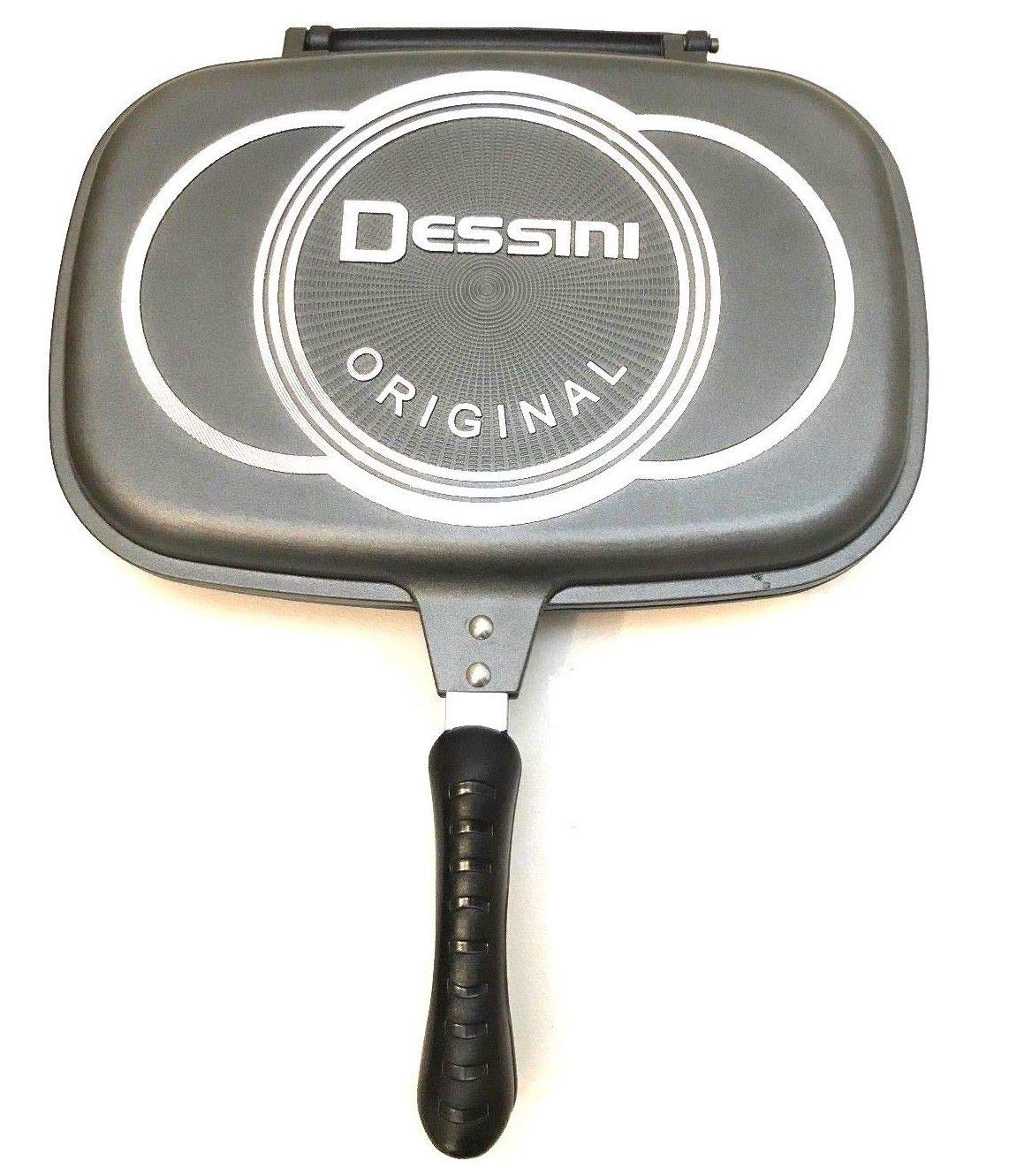 Brand New Grey Dessini Non Stick Double Sided Pressure Grilling Frying Pans