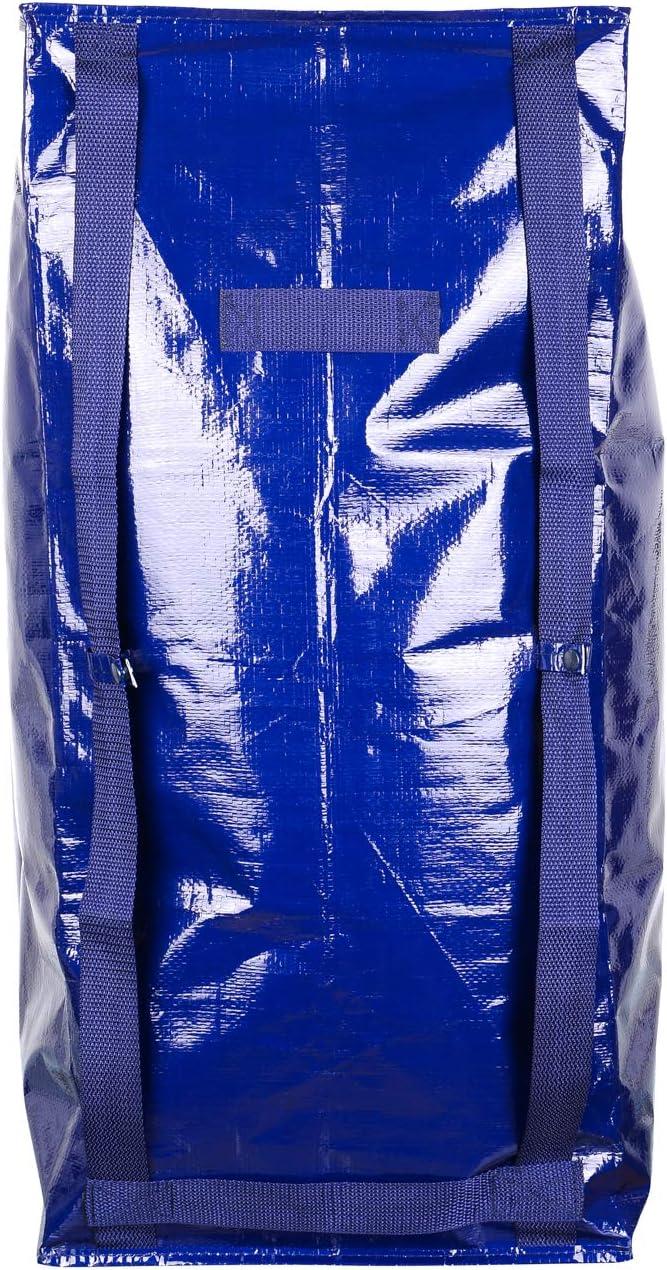Bolsa de almacenamiento extra grande y resistente asas de transporte y cremallera compatible con cajas de carros de mano IKEA Frakta hecha de material reciclado VENO