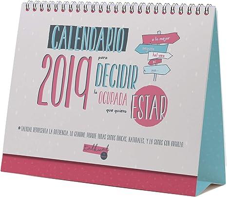 Calendario sobremesa 2019 español: Amazon.es: Oficina y papelería