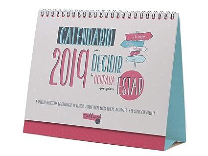 Calendario sobremesa 2019 español