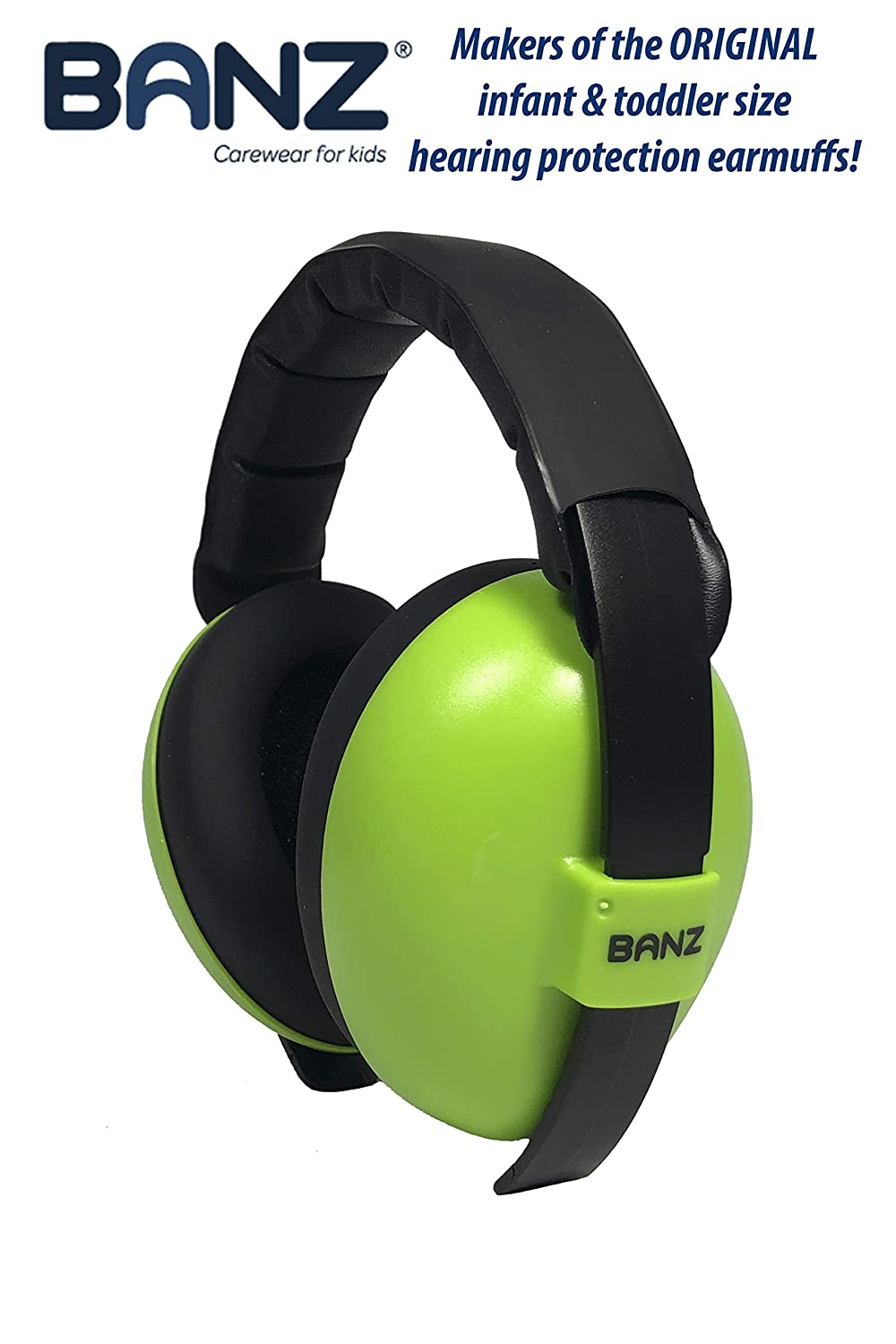 Lime Medium Baby BANZ Earmuffs Infant Hearing Protection  Ages 0-2 Years  The Best Earmuffs for Babies /& Toddlers  Industry Leading Noise Reduction Rating  Block Noise