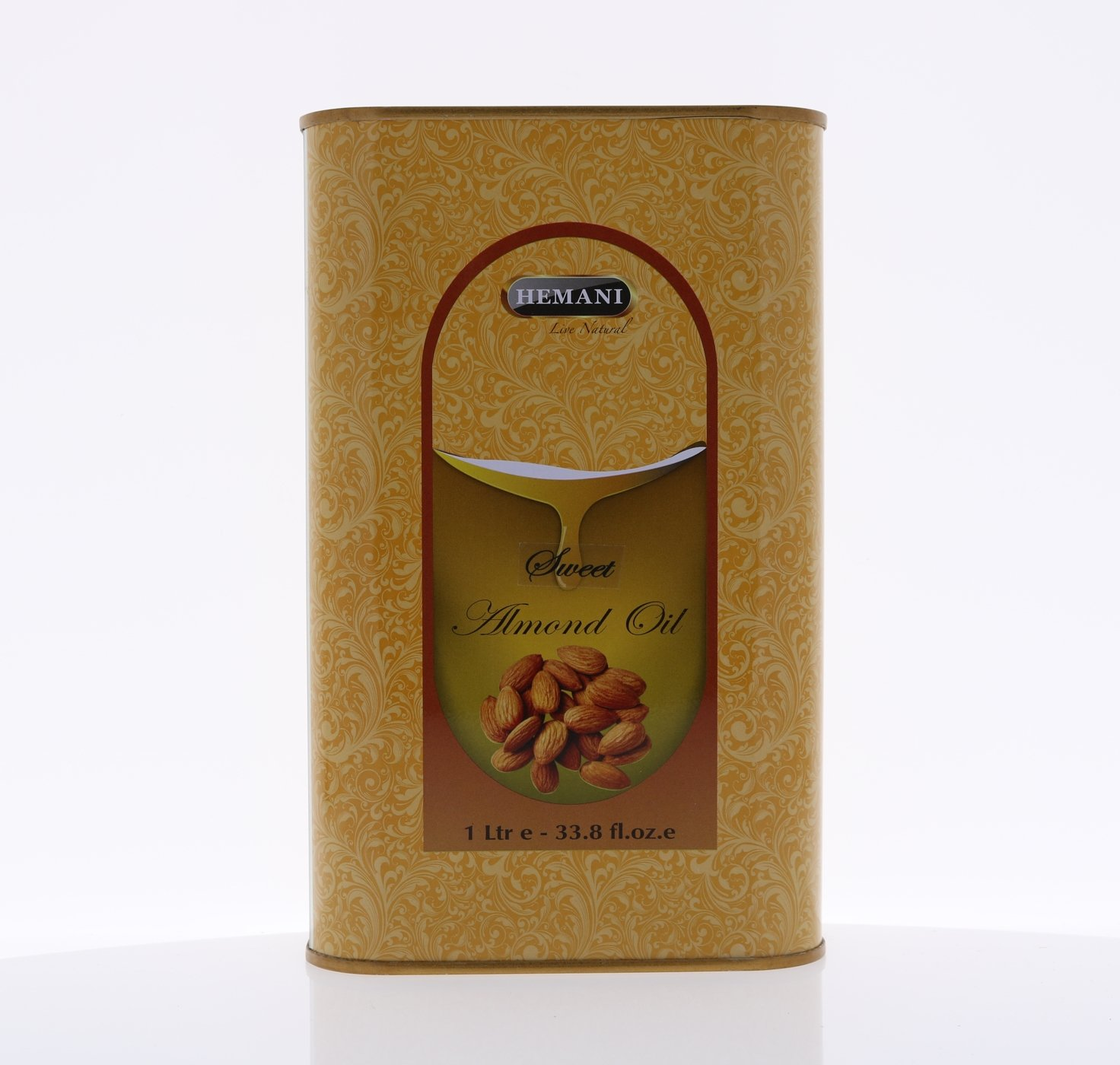 Hemani 100% Natural Sweet Almond Oil - Cold Pressed - 1 Liter (1000ml) by Hemani (Image #1)