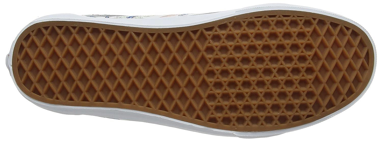 Vans Unisex Old Skool Classic Skate Shoes B01I3Y329U 9.5 M US Women / 8 M US Men|Tropical Leaves/True White