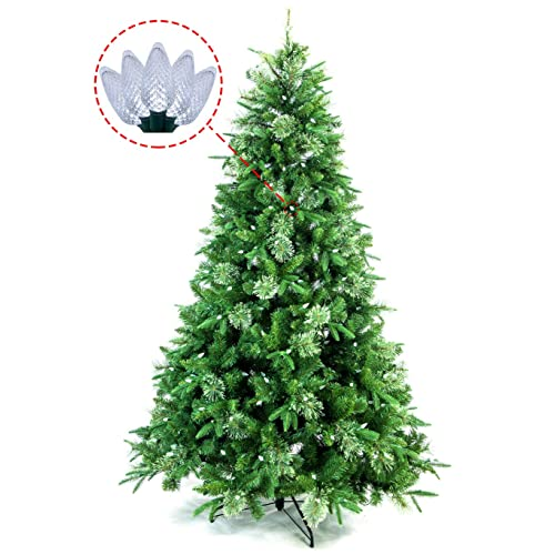 ABUSA Artificial Christmas Tree Prelit 7.5 ft Xmas Pine Tree with 750 LED  Lights 1186 Branch - Artificial Christmas Trees On Clearance: Amazon.com