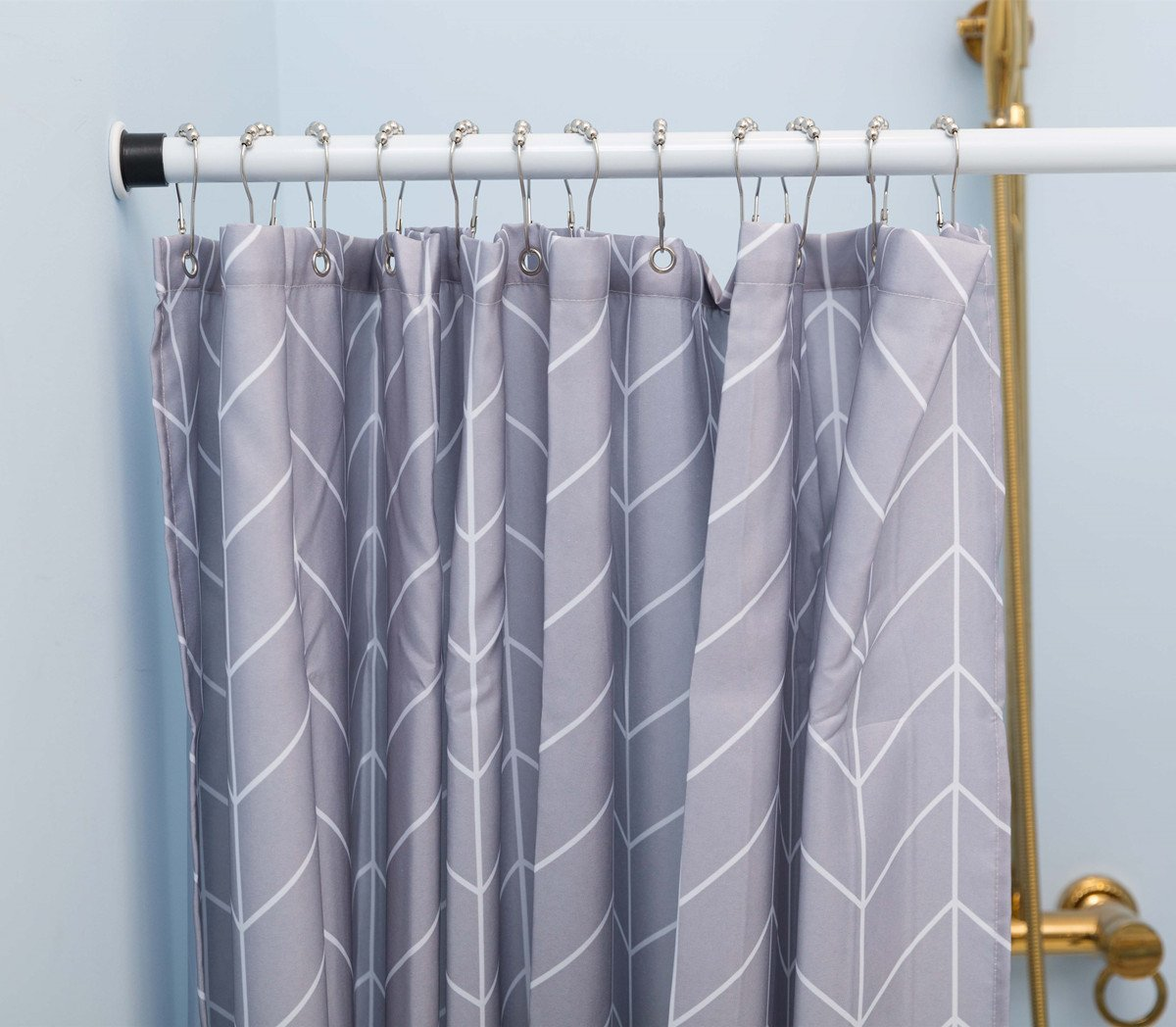 Amazon.com: ALLZONE Tension Shower Curtain Rod,Medium, 42-81 Inches, Never  Fall off, Rust Free, Steel: Home & Kitchen