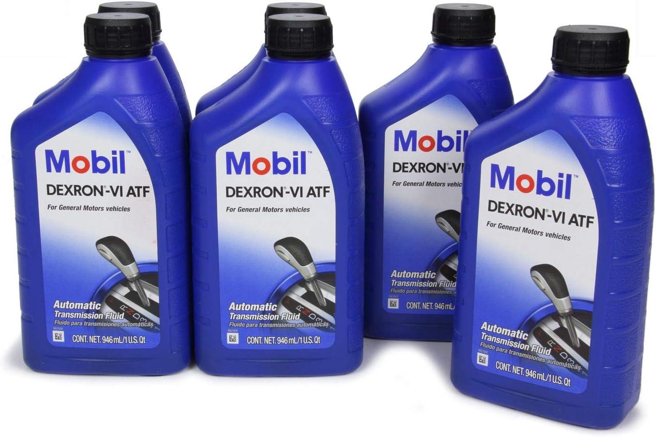 Mobil 1 Transmission Fluid - Dexron-VI - ATF - Synthetic - 1 qt - Set of 6