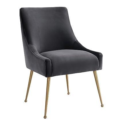 Beatrix Grey Velvet Side Chair Velvet Side Antique Chair Large Head New  Upholstery Svitlife - Amazon.com: Beatrix Grey Velvet Side Chair Velvet Side Antique Chair