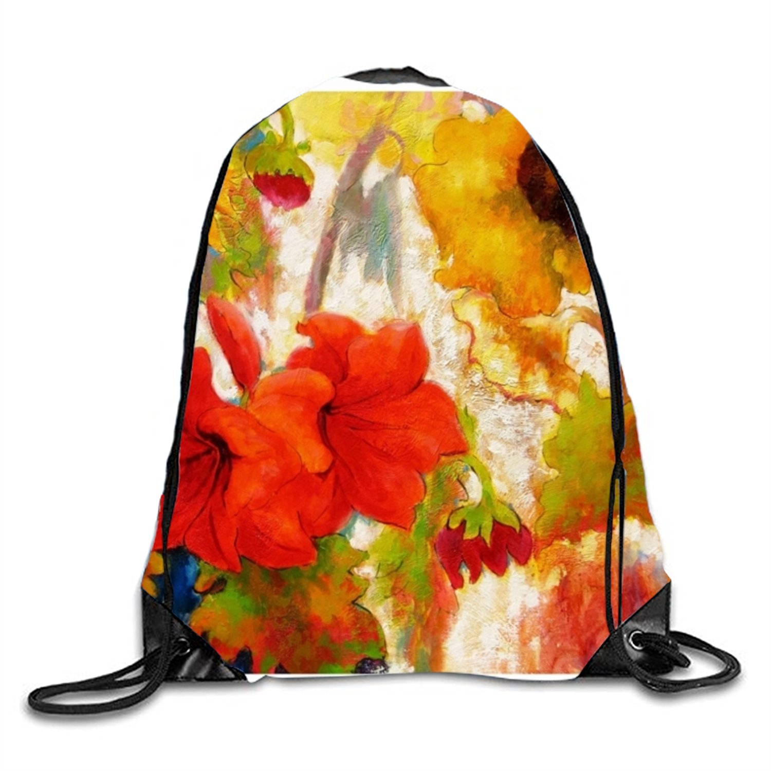 Unique Florida Fine Art Print Drawstring Backpack Rucksack Shoulder Bags Gym Bag