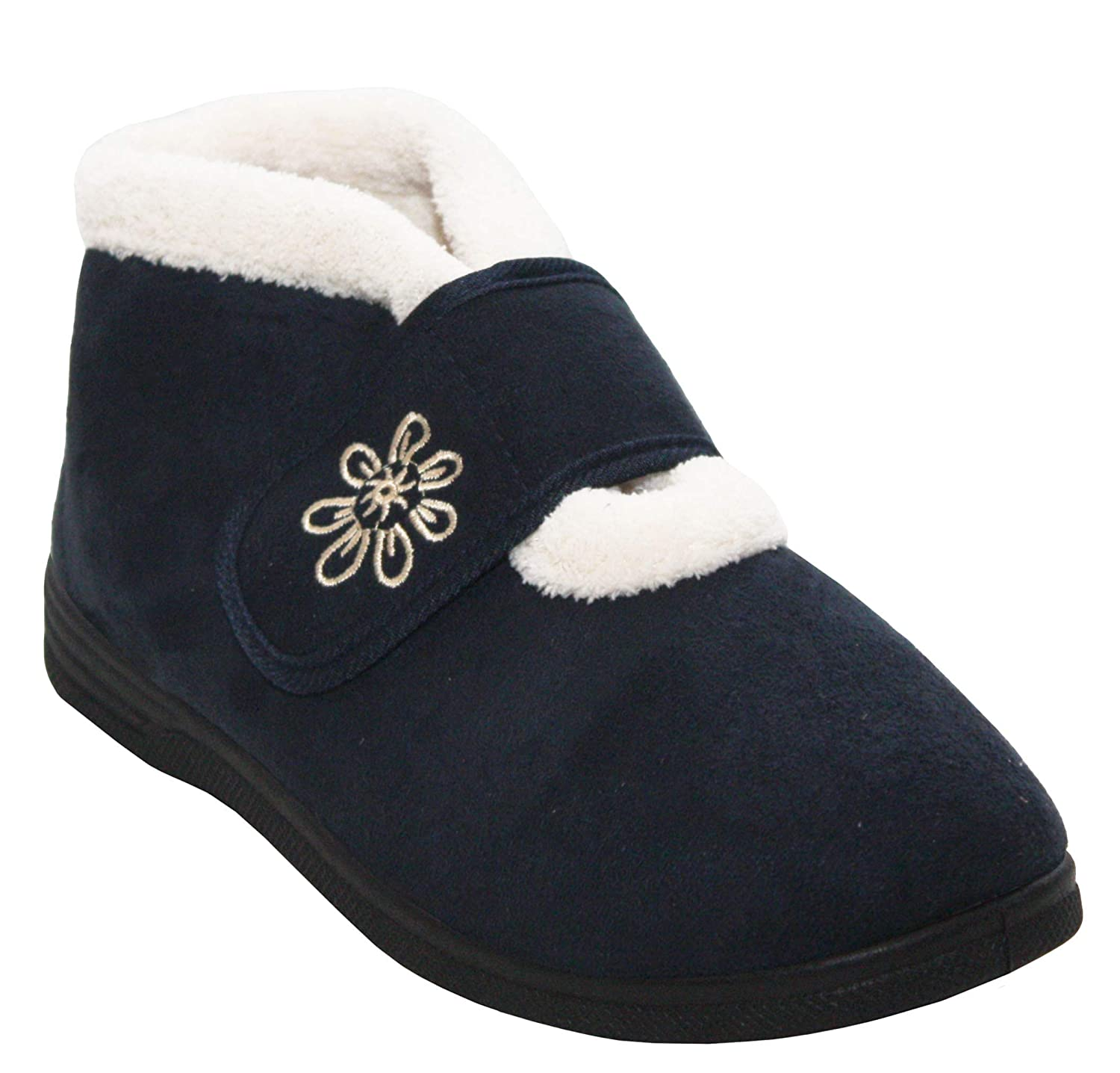 928a87d9d87b5 Cushion Walk Womens Ladies Fleece Lined Touch Fastening Strap Warm Winter  Ankle Boot Slippers UK Sizes 4-8