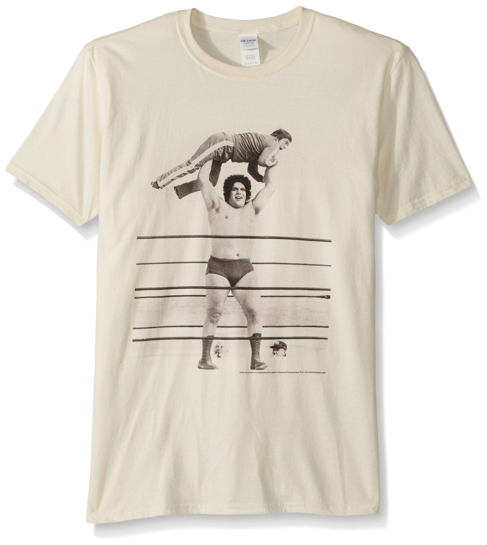 American Classics Unisex-Adults Andre The Giant Short Sleeve T-Shirt, Natural, Large