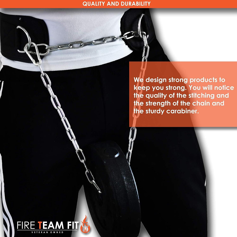 Krafttraining Workout Fire Team Fit Dip G/ürtel mit Kette f/ür das Hinzuf/ügen und Gewicht zu tauchen Gewichtheben Pull Ups