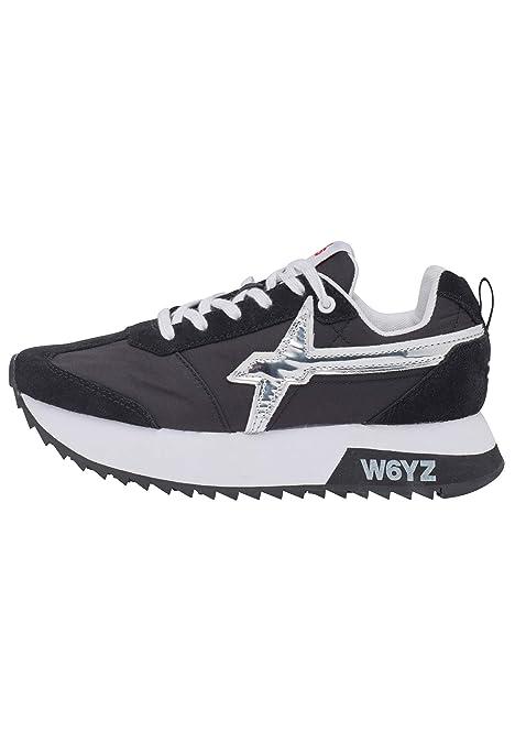 w6yz KIS W. Sneakers in Pelle e Nylon Nero 41: Amazon.it