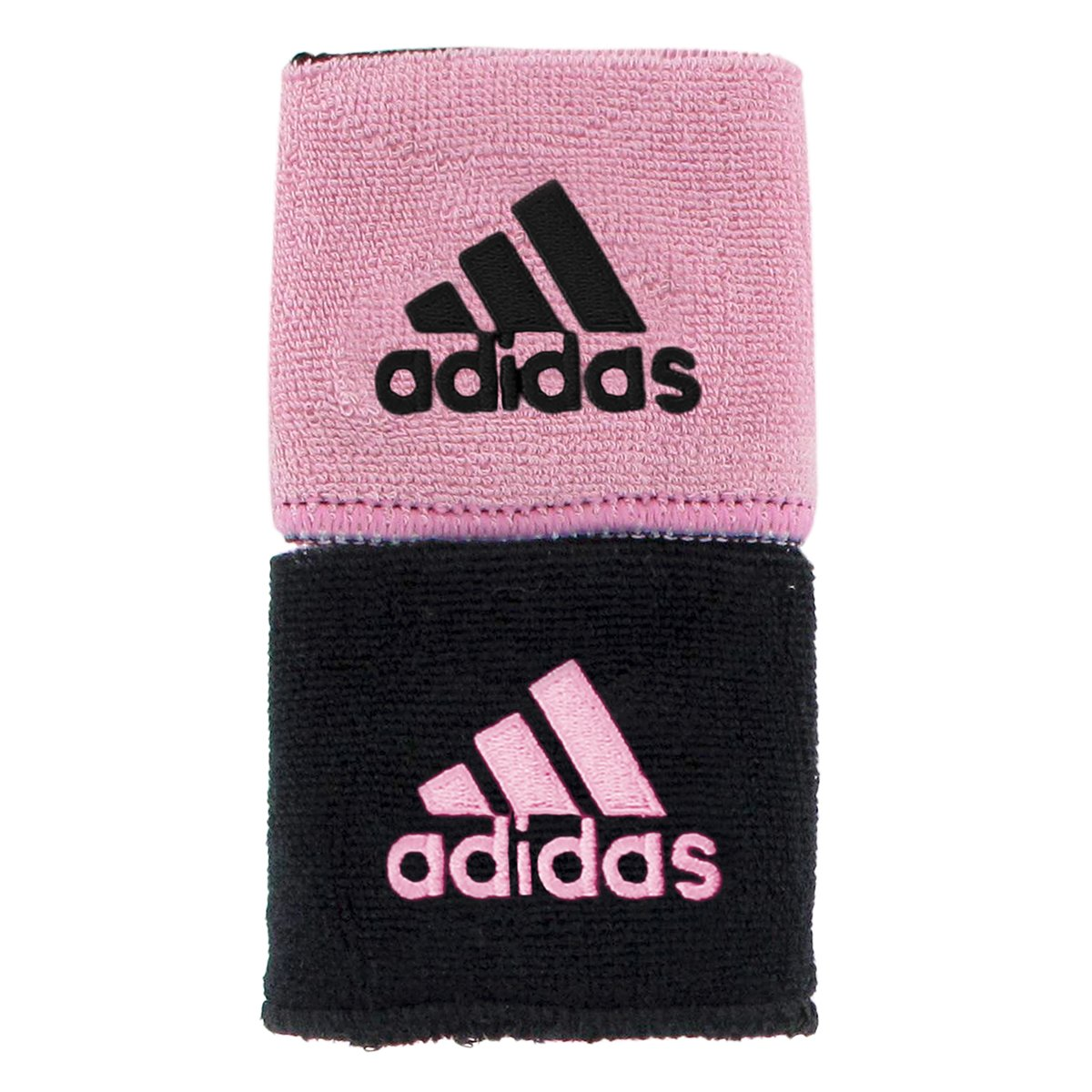 adidas Interval Reversible Wristband, Black/Gala Pink / Gala Pink/Black, One Size Fits All by adidas (Image #1)