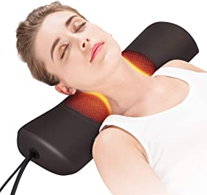 Boriwat Neck Support Pillows with Heat, Vibrating Massage Neck Pillows for Neck Pain Relief, Neck Heating Pillow for Neck Pain, Cervical Neck Traction Device for Women & Men