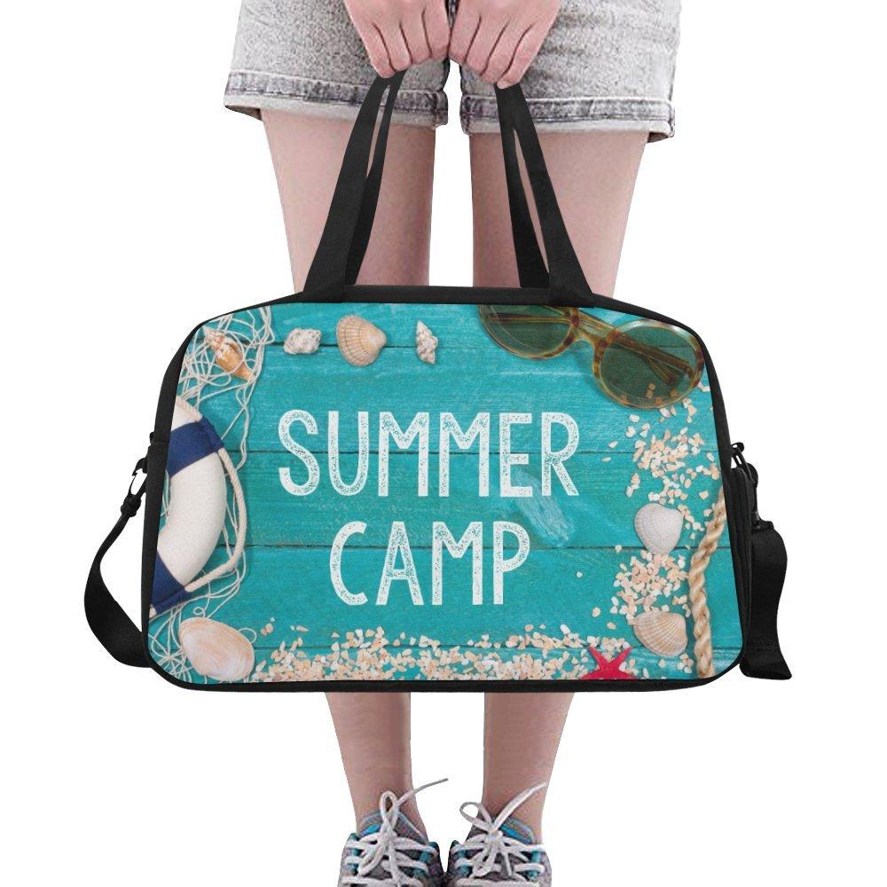 CaseCastle Overnight Duffel Bag Summer Camp Weekend Travel Bag for Unisex