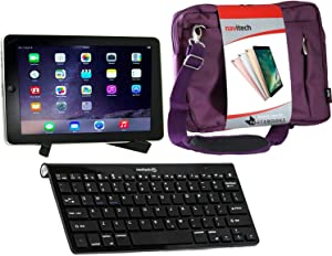 Navitech Converter Pack Including Multi OS Wireless Bluetooth Keyboard/Purple Case Bag & Portable Stand Compatible with The Dell Venue 7 | Dell Venue 8 7000 | Dell Venue 11 pro 7140