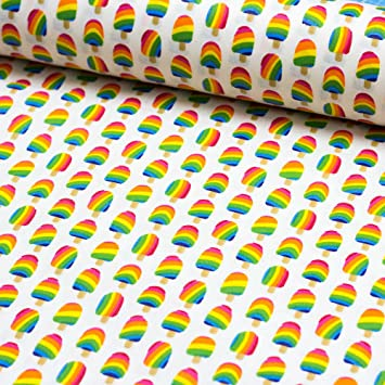 Stoff Beschichtete Baumwolle Luna Eis Am Stil Stoff Zum
