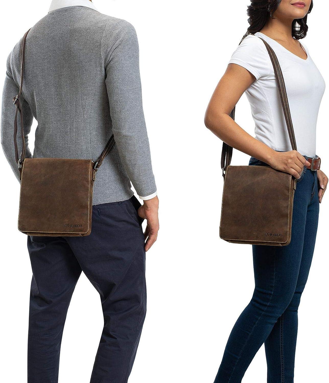 braun STILORD Gerry Kleine Leder Messenger Bag Hochformat Umh/ängetasche f/ür 9,7 Zoll iPad Tasche Echtes Leder im Modernen Vintage Stil Farbe:Santana