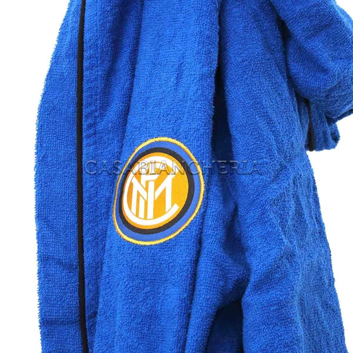 Novia Accappatoio con Cappuccio Inter Originale FIGC-Blu-M