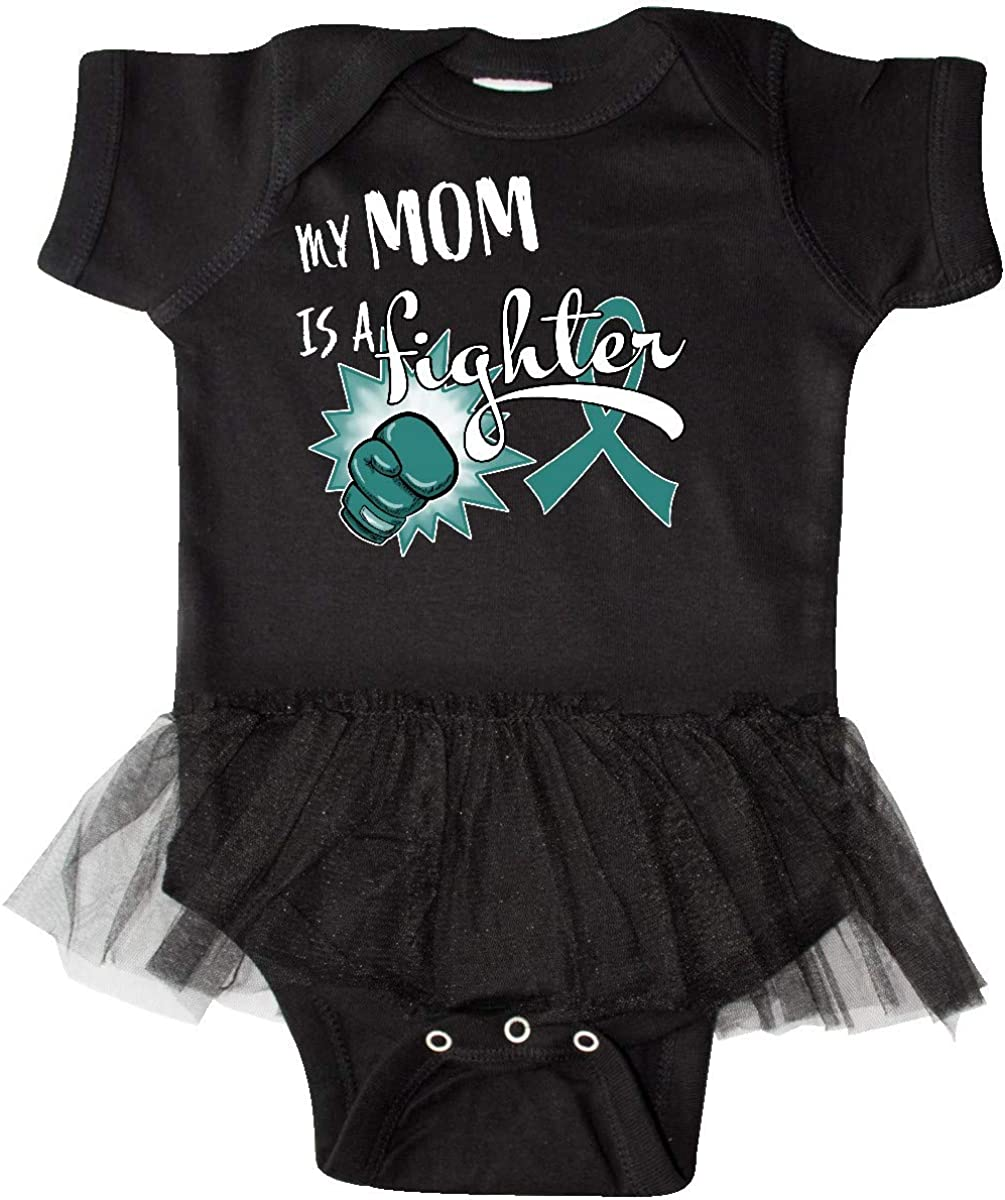 inktastic Ovarian Cancer Awareness My Mom is a Fighter Infant Tutu Bodysuit