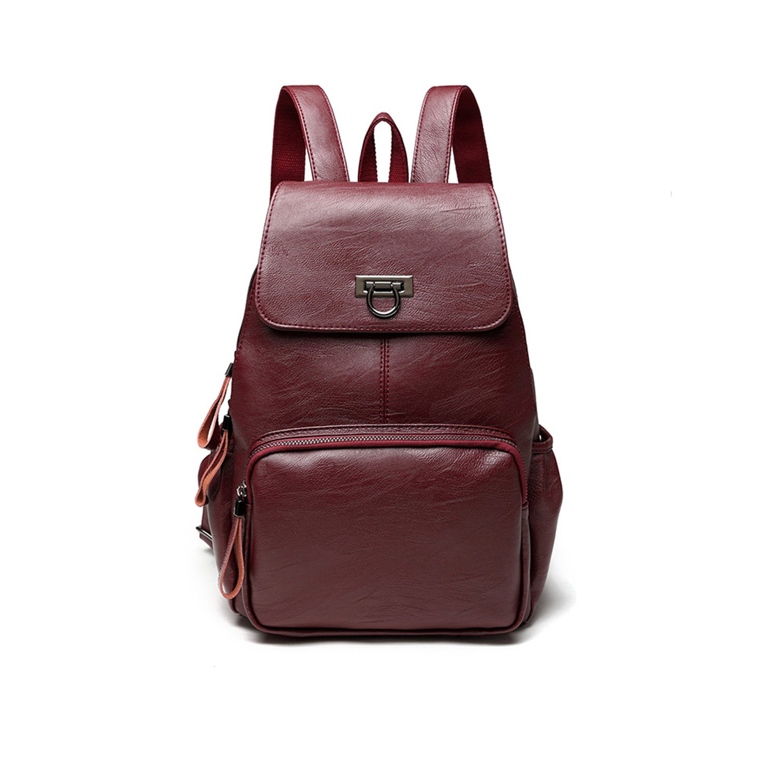 CARQI Leather Backpack Fashion Mini School Handbag Stylish Lovely for Women, Ladies and Girl