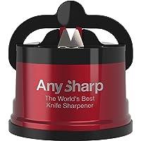 AnySharp ASKSPRORED Knife Sharpener, Red/Black