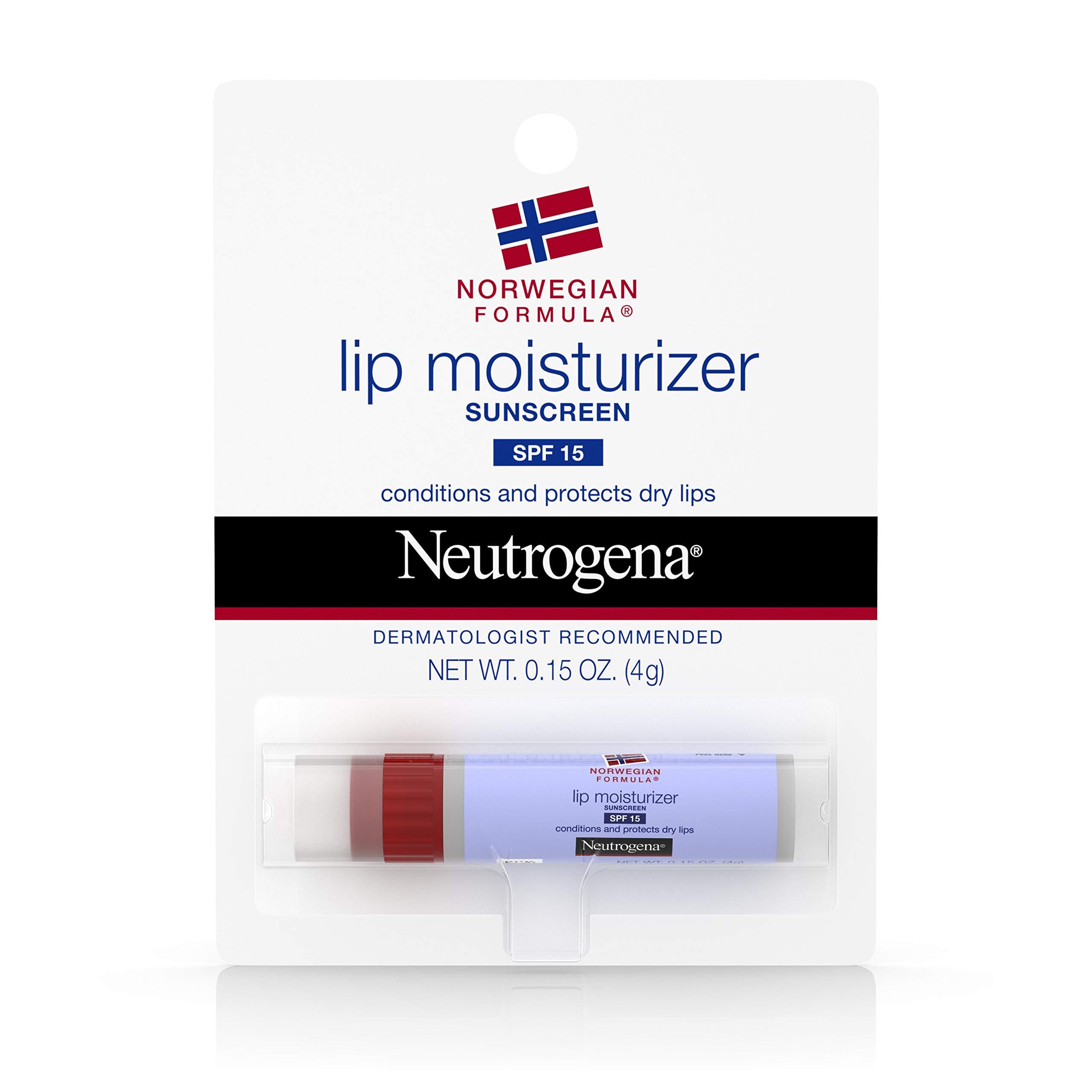 Neutrogena Norwegian Formula Lip Moisturizer With Sunscreen, Spf 15,.15 Oz. (Pack of 3) by Neutrogena