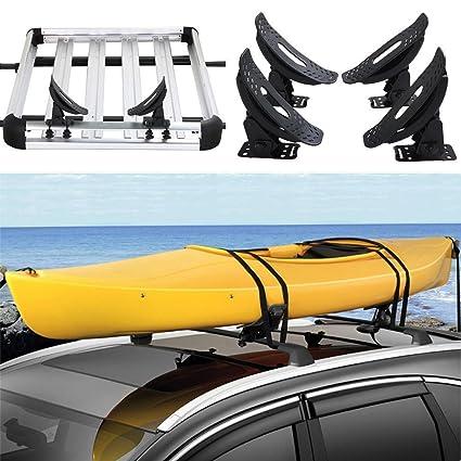 Go2 Kayak Carrier Roof Rack Canoe Boat Surf Ski Top Mounted On Car Suv Crossbar