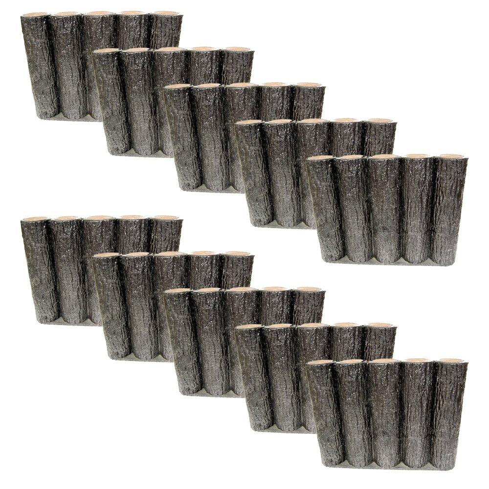 サンポリ 樹脂製擬木はなえ 5連平行杭タイプ H300 (1本) B00E3R0K6A 11314 1本  1本
