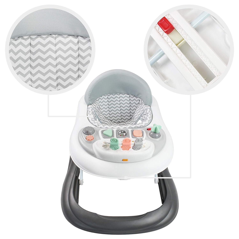 Mat/ériau: PP Trotteur pour B/éb/és Motif gris avec les jouets Centre dActivit/és pour b/éb/és Todeco Tranche d/âge: 6 /à 18 mois