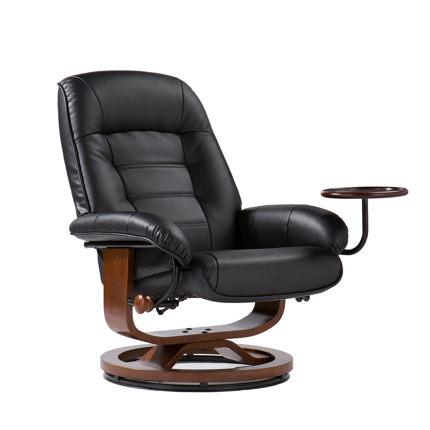 Amazon Adjustable Black Leather Recliner and Ottoman fice