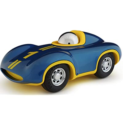 Playforever Mini Speedy Le Mans Boy Blue with Yellow and Chrome Driver: Toys & Games