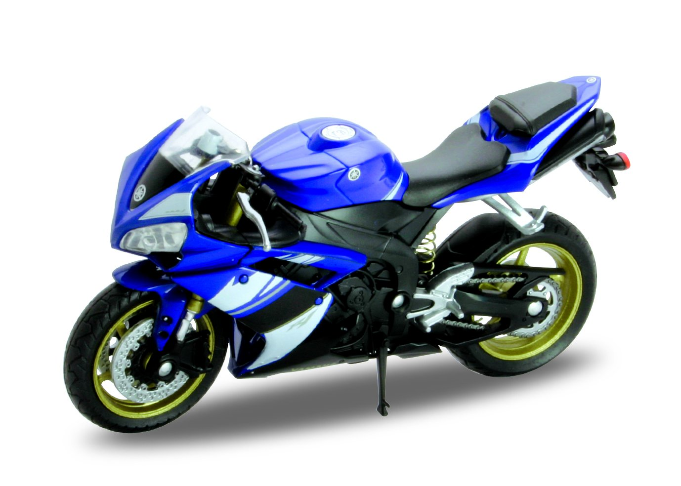 Welly Die Cast Motorcycle Blue Yamaha 2008 YZF-R1, 1:18 Scale