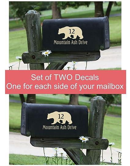 amazon com custom lettering mailbox decals stickers address bear