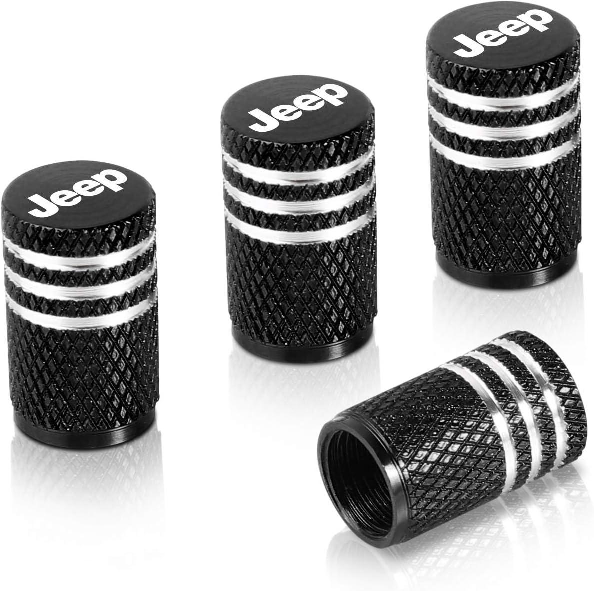 Qideloon Auto Tire Valve Caps,4pcs Aluminum Valve Stem Caps Universal fit for Car,Motorbike,Trucks,Bike and Bicycle red