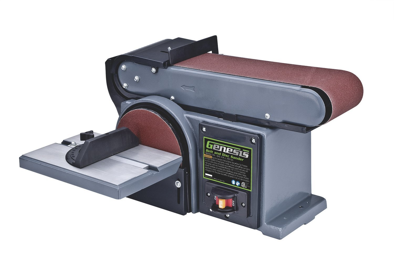 Genesis GBDS450 4-Inch by 46-Inch 4.5-Amp Belt/Disc Sander - Power  Combination Disc And Belt Sanders - Amazon.com