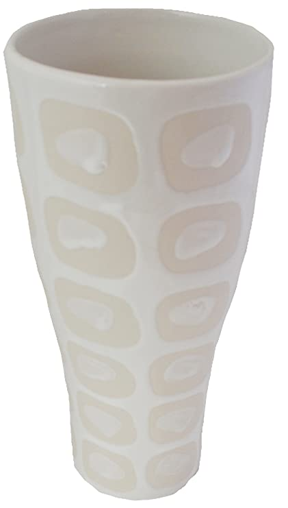 Amazon Sia Glazed Ceramic Vase 11 White Home Kitchen