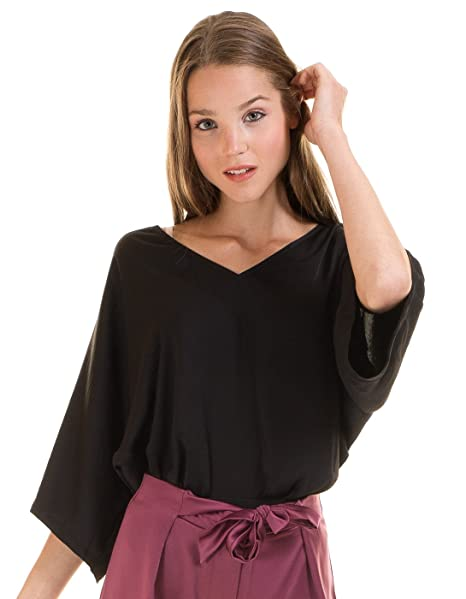 Vila Body Blusa Negra Vimelli Clothes (S - Negro)